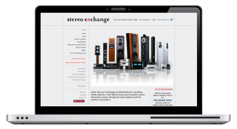 Stereo Exchange - Design by 76 Solutions